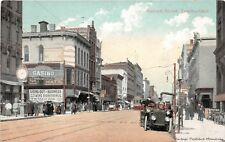 TOLEDO OH 1907-09 Early 20th Century Scene on Summit St Old Cars Stores People