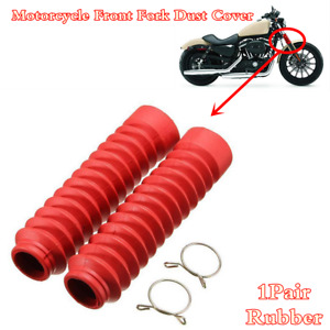 2x Motorcycle Front Fork Dust Cover Gaiters Gaitors Boots Shock Absorber Rubber