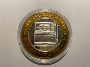 Sam's Town Gamblers Collector Series Ten Dollar Gaming Token Coin .999 Silver