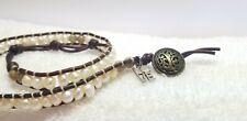 Boho Wrap beaded Pearl/ Stone ivory multicolored beaded  Bracelet
