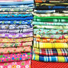 Cotton Fabric Polyester Floral Prints Pre- Cut Sewing Quilting Craft By The Yard