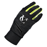 VC Maxgear Black Windproof Running, Cycling, Hiking Gloves with zip storage pock