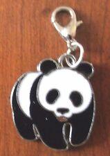 charms argentée panda noir et blanc