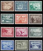 THIRD REICH Mi. #702-713 mint MNH Occupations stamp set! CV $102.50