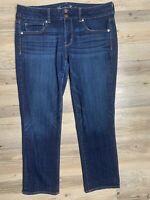 American Eagle Stretch Artist Bootcut Blue Denim Jeans Women's 12 Regular GREAT