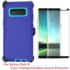 For Samsung Galaxy Note 8 Defender Case Cover w/ Tempered Glass Screen PP-TL
