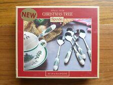 Spode Christmas Tree Set of 6 Teaspoons Boxed