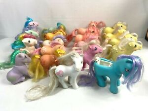 Vintage 1980's My Little Pony Lot of 19 Assorted Used Condition MLP Hasbro
