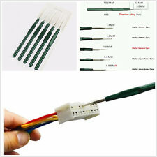 5Pc Crimp connector Pin Pigtail Plug Terminal Removal Dismount Tool Kit Titanium