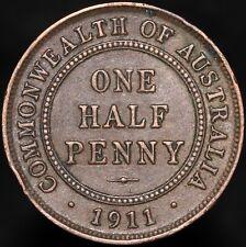 More details for 1911 | australia george v one half-penny | bronze | coins | km coins