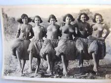 Vintage  P.N.G. Post Card  Native  Sexy  Dancing Girls From Port Moresby Rare !