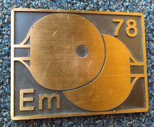 BERTONI MILANO vintage plaque, European Table Tennis Championships DUISBURG 1978
