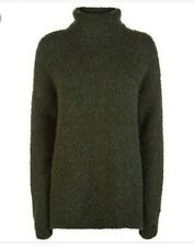 Sweaty Betty Woodland Knit Turtleneck Pullover Jumper  Size S/M Green