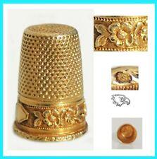 Dé à coudre OR MASSIF 18K carat french GOLD thimble nécessaire de couture Art No