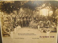 Rare 1921 Photo Shows Burial of War Hero James Bethel Gresham At Evansville IN