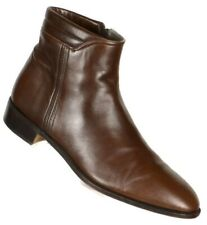 Stamati Mastroianni Mens Beatle Boots Size 11M Brown Leather Hand Made in Italy