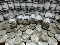 40% SILVER KENNEDY HALF DOLLAR + $10 FV UNSEARCHED BANK WRAPPED HALVES COIN ROLL
