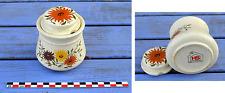 Pot à épices en céramique, Made in Portugal, motifs floraux, parfait état