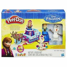 NEW HASBRO PLAY-DOH DISNEY FROZEN SLED ADVENTURE 5 CANS B1860 OLAF ANNA SVEN