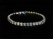 Silver Layered Tennis Bracelet Featuring 34 Swarovski Crystals Jewellery Gifts