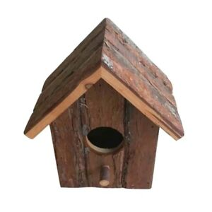 ✔ Medium Rustic Wooden Nesting Nest Box Bird House Birds Blue Tit Wren Boxes ✔