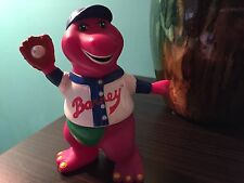 """5"""" TALL BARNEY THE DINOSAUR  FIGURE BASEBALL OUTFIT CAKE TOPPER DECORATION PLAY"""