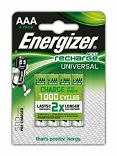 4 x Energizer Rechargeable Universel AAA 500mah Piles