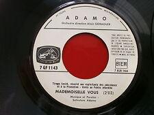 ADAMO Mademoiselle vous / J ai tant de reves dans mes bagages 7GF1143 JUKE BOX