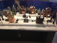 "Christmas Village Display Base Platform 48"" Dept 56 Lemax Dickens"