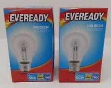 46w Halogen Clear Eco GLS Light Bulbs BC B22 ES E27 Push/Screw In 60w Cheap!