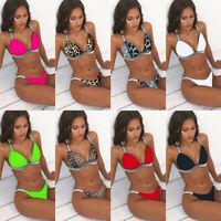 Brazilian Bikini Set Push Up Bra Tankini Swimsuit Swimwear Bathing Suit Triangle