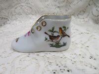 Herend  Cute Baby Shoe Rothschild Bird Pattern