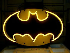"NEW BATMAN COMIC HERO HOME REAL GLASS NEON BAR PUB LIGHT SIGN 17""X14"""