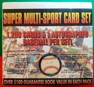 Super Sport Card Set - 1,200 Cards + Auto Baseball + Piazza / Griffey Jr Rookie!