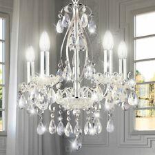 Design Chrom Kronleuchter Kristall Behang Wohn Ess Zimmer Pendel Lampe Lüster