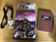 NFL Exclusive VIP 2013 - Steelers v Vikings - Wembley Programme & Merchandise