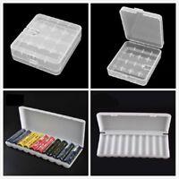 1/10Pcs 4/10 Grids 18650 Hard Plastic Battery Case Box Organizer Holder Storage