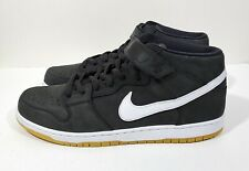 Nike SB Dunk Pro Mid Orange Label Mens Shoes Black White Size 14