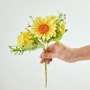 Sunflower Hydrangea Flower Bouquet for Diy Home Garden Table Decoration 1Pc