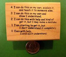 Proficiency Rubric 43210, Teacher's Wood Mounted Rubber Stamp