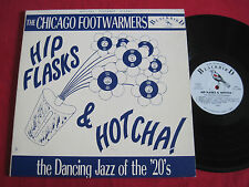 RARE JAZZ LP - THE CHICAGO FOOTWARMERS - HIP FLASKS & HOTCHA - BLACKBIRD 12002