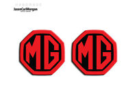 MG ZS MK1 LE500 Style Badge Inserts Front Rear Logo 59mm Black Red Badges