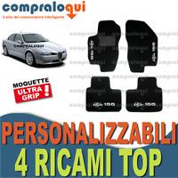 TAPPETI PER ALFA ROMEO 156 TAPPETINI AUTO SU MISURA + 4 DECORI TOP RICAMATI
