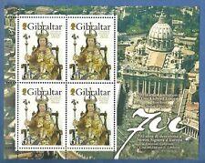 GIBILTERRA FOGLIETTO  CONGIUNTA VATICANO 2009 NS SIGNORA D'EUROPA NUOVO MNH**