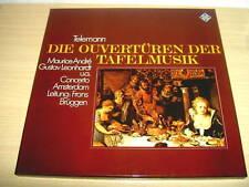 2 LP DIE OUVERTÜRENderTAFELMUSIK  Telemann