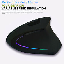 Wireless Vertical Mouse Ergonomic USB Rechargeable Computer Gaming Mice