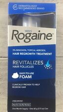 New Men's Rogaine Easy-To-Use FOAM, Unscented,1 Month Supply Exp.05/2019