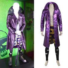 Top Grade Suicide Squad Joker Trench Coat Cosplay Costume Full Set