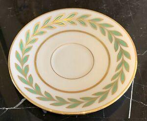 Vintage Lenox Athenia Green Laurel Gold Trim Demitasse Saucer