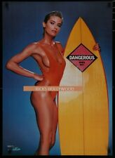 Original 1986 Hot Surfing Babe Starmakers #2309 Vintage Poster Not A Reprint